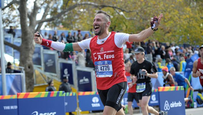Célbaérő maratoni futó