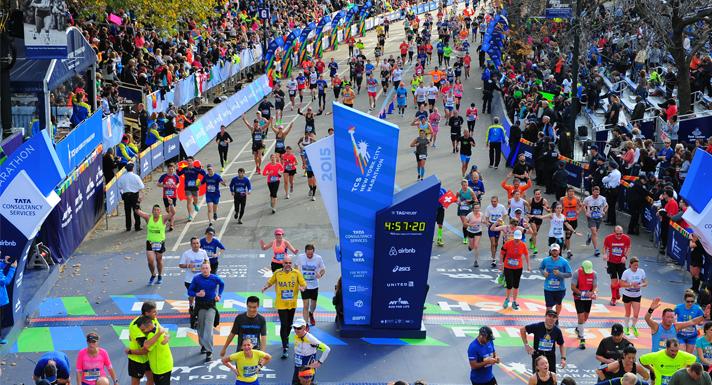 Célba érkezés maratonon