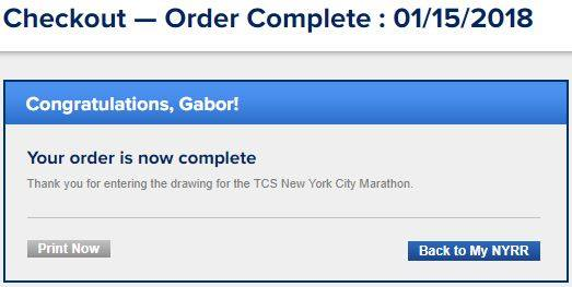 New York Maraton sorsolás