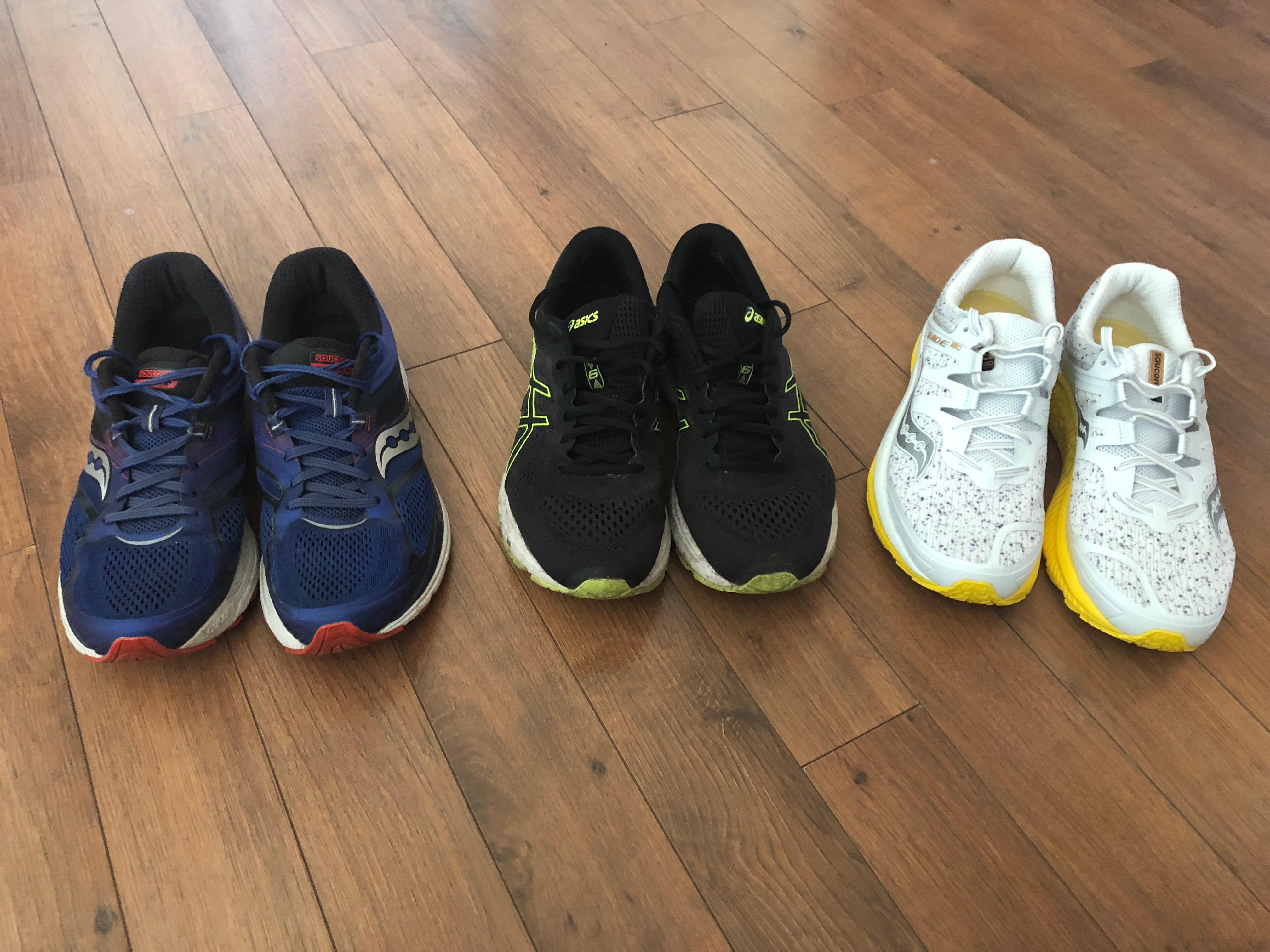 31a6c95f80 Az eddigi három cipőm: Saucony, Asics és újra Saucony.