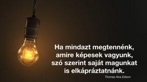Futás Edison motiváció