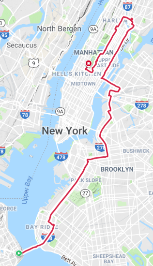New York Marathon course