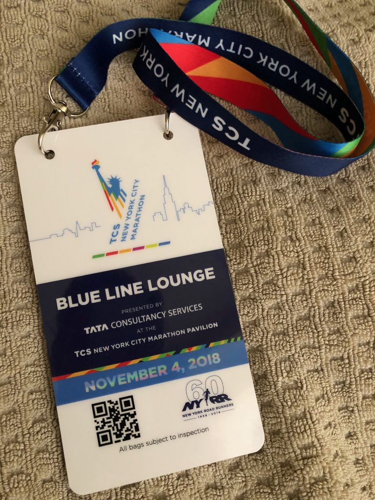 New York Marathon Blue Line Lounge