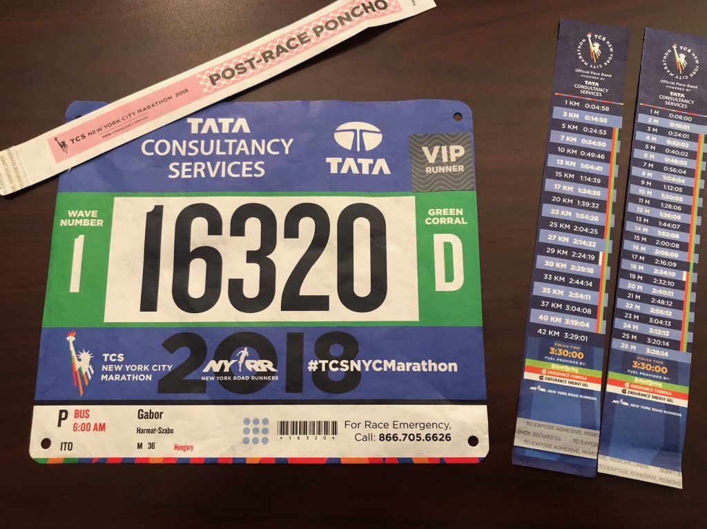 New York Marathon BIB.