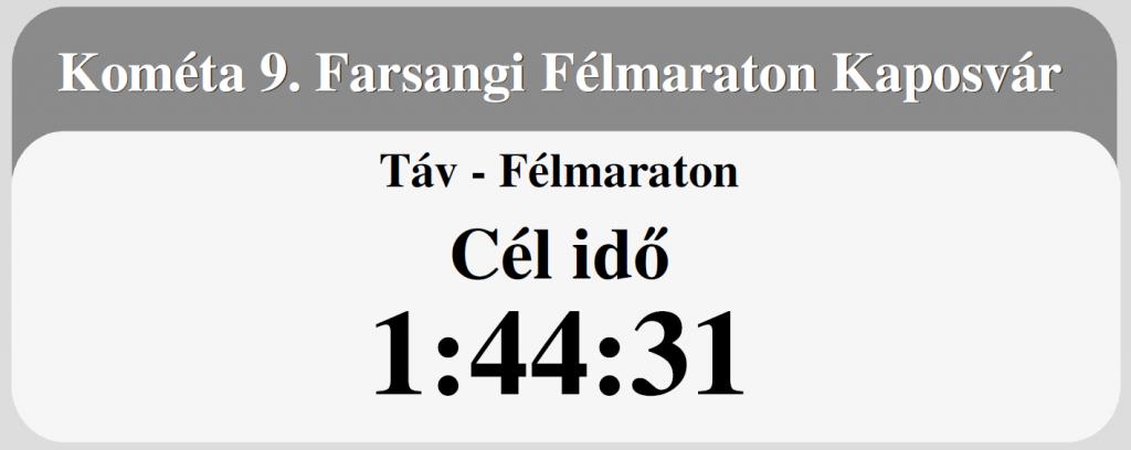 Kaposvári félmaraton célidő