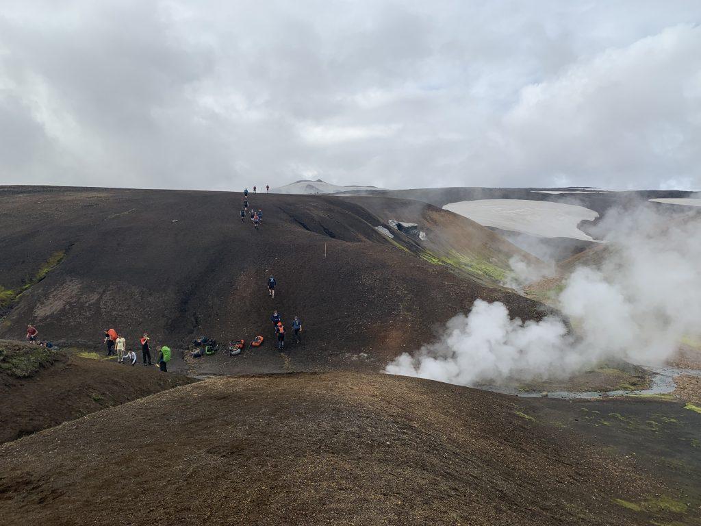 Laugavegur Ultra Marathon geotermikus mező