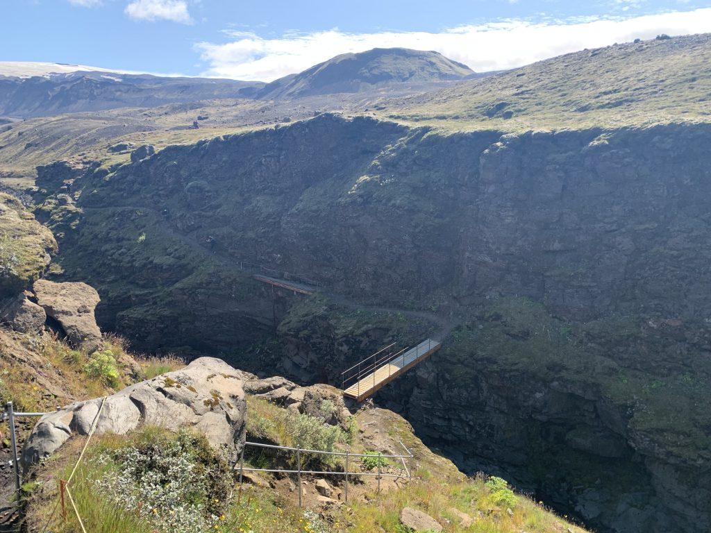 Laugavegur Ultra Marathon kanyon híd